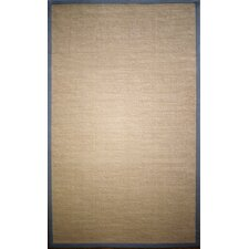 <strong>nuLOOM</strong> Natura Light Grey Framed Border Rug