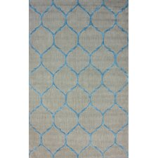 Brilliance Blue Tina Plush Rug