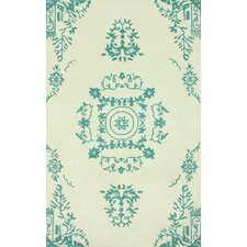 Gradient Cream/Teal Philip Area Rug