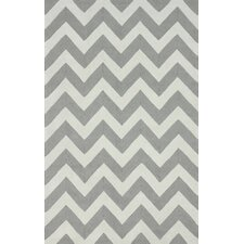 Homestead Soft Grey Meredith Chevron Rug