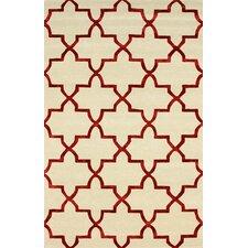 Goodwin White/Red Camila Area Rug