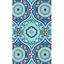 Fergie Vexia Blue Suzani Area Rug