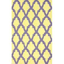 Brilliance Yellow/Purple Damian Area Rug
