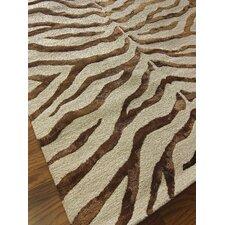 Earth Brown/Beige Radiant Zebra Area Rug