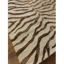 Earth Brown Radiant Zebra Rug
