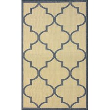 <strong>nuLOOM</strong> Villa Outdoor Blue Double Trellis Rug