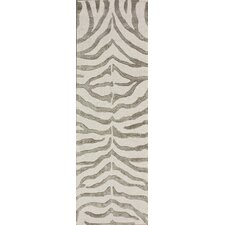 Madagascar Grey Plush Zebra Rug