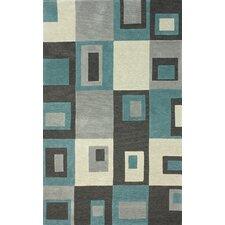 Tulon Charcoal Squared Rug