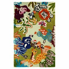 Kinder Zoo Animals Area Rug