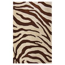 Moderna Brown Zebra Print Area Rug