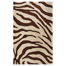 Moderna Brown Zebra Print Rug