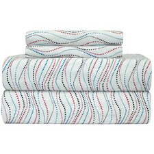 <strong>Pointehaven</strong> Heavy Weight Metro Printed Flannel Sheet Set