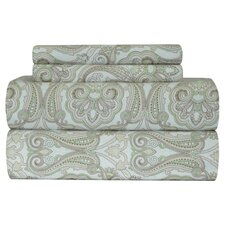 <strong>Pointehaven</strong> Heavy Weight Paisley Printed Flannel Sheet Set