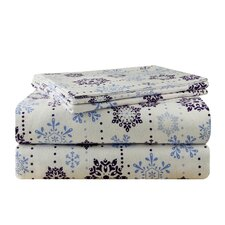 Snow Drop Flannel Sheet Set