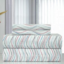 Heavy Weight Metro Printed Flannel Sheet Set