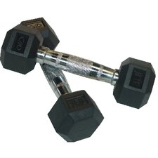 Rubber Hex Dumbbell (Pair)