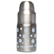 <strong>organicKidz</strong> Stainless Steel 9 oz Wide Mouth Dots Baby Bottle