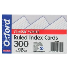 "300 Count 3"" x 5"" Ruled Index Card in White"