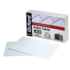 "100 Count 4"" x 6"" Blank Index Card in White"
