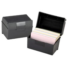 "3"" x 5"" Oxford Index Card Box (Set of 6)"