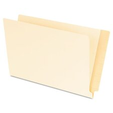 Laminated Shelf File Folders, Straight Cut End Tab, 11 pt. Legal, 100/Box