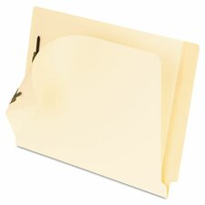 Folders, 2 Fasteners, Laminated Straight Cut End Tabs, Legal, 50/Box