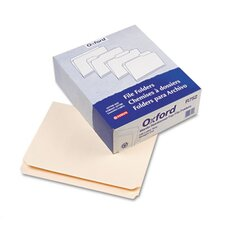 Reinforced Top Tab File Folders, Straight Cut, 100/Box