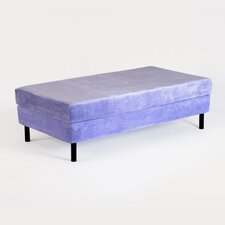 Kids Memory Foam Mattress with Water Proof Cover in Lavender
