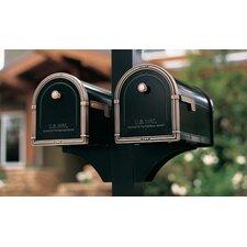 Decorative Side Bracket for 1 Mailbox