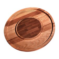 <strong>Ironwood Gourmet</strong> Round Cheese and Cracker Board