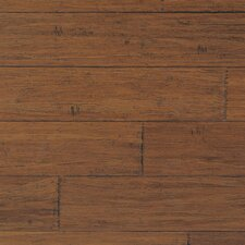 "Strand Woven 0.5"" x 1.875"" Hand Scraped Bamboo T-Molding in Demode Java"