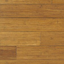 "Strand Woven 0.5"" x 1.5"" Hand Scraped Bamboo Threshold in Antique Java"