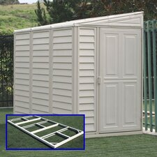 SideMate 4ft. W x 8ft. D Vinyl Lean-To Shed
