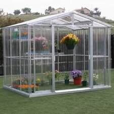 6.5' H x 8.5' W x 6.0' D Polycarbonate Greenhouse