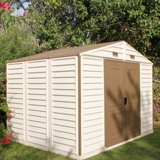 "Woodside 10'7.87"" W x 8'1.05"" D Vinyl Storage Shed"