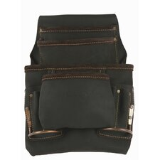 Oiled Top Grain Leather 10 Pocket Nail and Tool Pouch