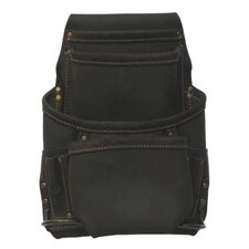 <strong>Style N Craft</strong> Ten Pocket Nail And Tool Pouch in Oiled Top Grain Leather