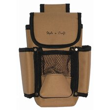 Four Pocket Tool Pouch in Khaki and Black