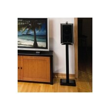 Open Box Price 24' Fixed Height Speaker Stand in Cherry