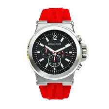 Men's Red Silicone Watch