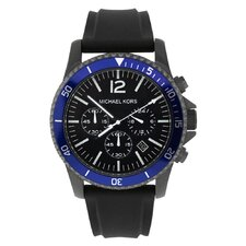 Men's Jet Set Watch with Blue Chronograph Dial