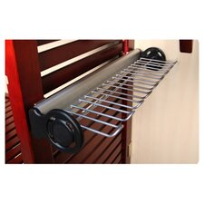 "16"" Tie/Belt Side Mount Rack in Satin Nickel"