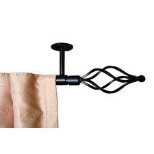 Wire Twist Ceiling Mount Curtain Rod