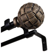 Isabella Steel Knob Double Curtain Rod