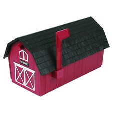 Barn Style Post Mounted Mailbox