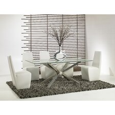 "42"" Mantis Crackle Glass Dining Table"