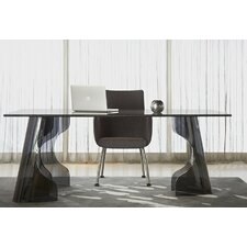 Krystal Void Crackled Glass Dining Table