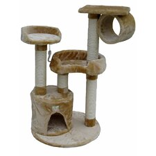 "39.5"" Cat Tree in Beige"