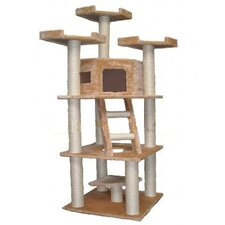 "78"" Cat Tree in Beige"