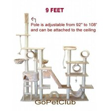 <strong>Go Pet Club</strong> 9 ft. Cat Tree in Beige